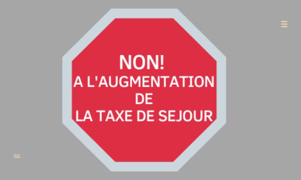 Non à l'augmentation de la taxe de séjour le 1er janvier 2022 !