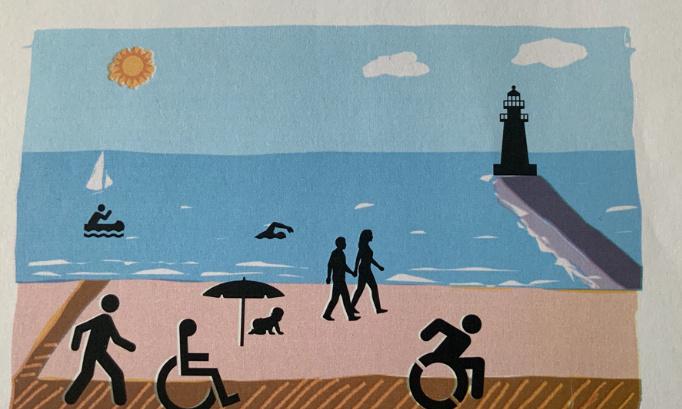 Été 2021, la plage St Goustan ( le Croisic ) enfin adaptée pour les personnes à mobilité réduite