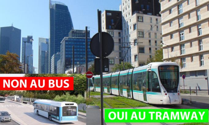 Oui à la prolongation du tramway T2 du pont de Bezons vers Argenteuil, Cormeilles, Sartrouville !
