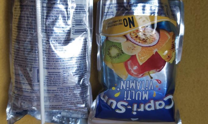 Les pailles en carton de capri-sun ne sont pas utilisables avec le capri-sun jus. Les pailles en plastiques étaient mieux adaptées.