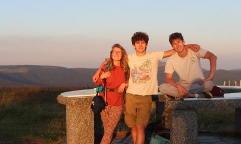Nathan, Rebecca et Cyprien AVEC NOUS EN ITALIE