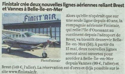 Pétition : Stop aux navettes aériennes sur Belle-Ile-en-Mer