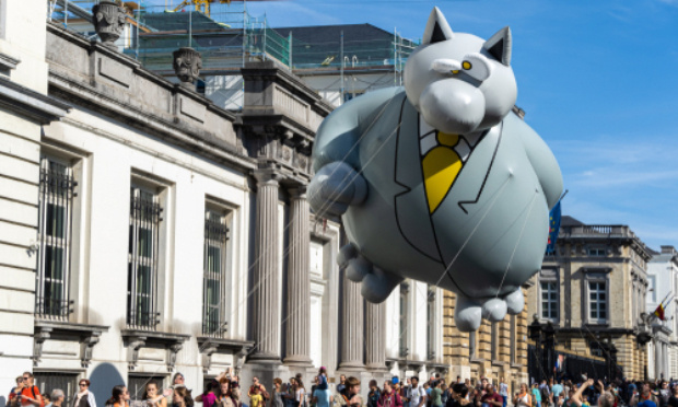 """Pour l'ouverture du musée """"Le chat"""" à Bruxelles"""