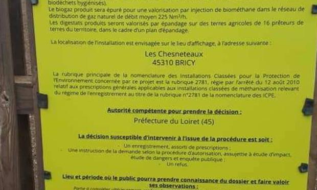 Annulation des projets de méthanisation proche des habitations en Beauce Loiretaine & Cœur de Beauce