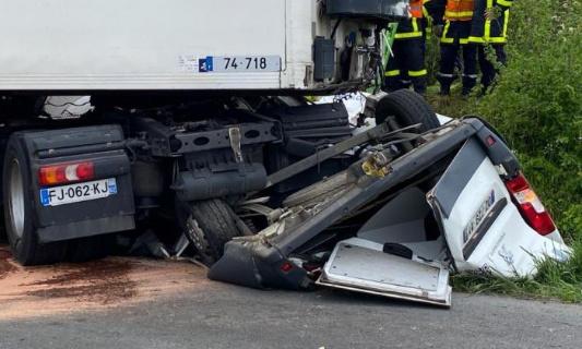Violente collision rn42 - 19 mai 2021 : mise en danger de la vie d'autrui(s), pro de route...!?