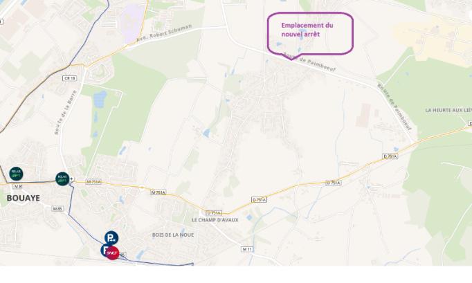 Bouaye : pour un nouvel arrêt tan afin de desservir l'intersection de la route de Bouguenais et la route de Paimboeuf