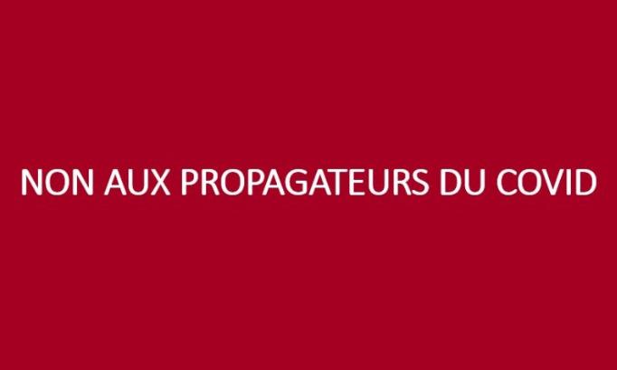 Non aux propagateurs du COVID : Pour que les français se fassent vacciner massivement