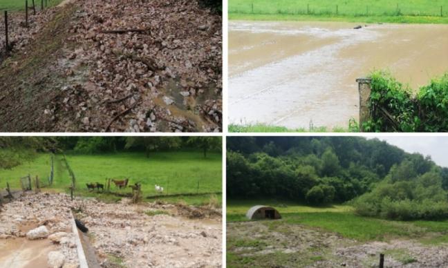 Inondations à répétitions dans la vallée d'Oudalle