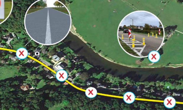 Aménagement de l'Avenue Montefiore (Esneux) en vue de réduire les risques d'accidents et les nuisances sonores