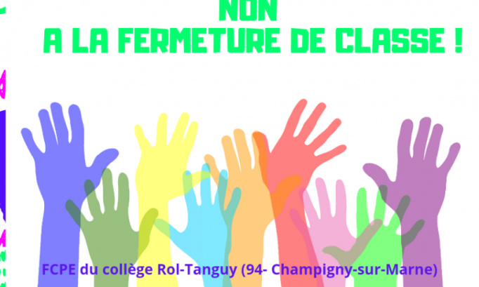 NON A LA FERMETURE DE LA CLASSE DE 3e