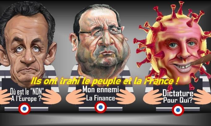 Ils ont trahi le peuple et la France ; pour qu'ils soient arrêtés, jugés, et déchus des privilèges dus au chef d'Etat