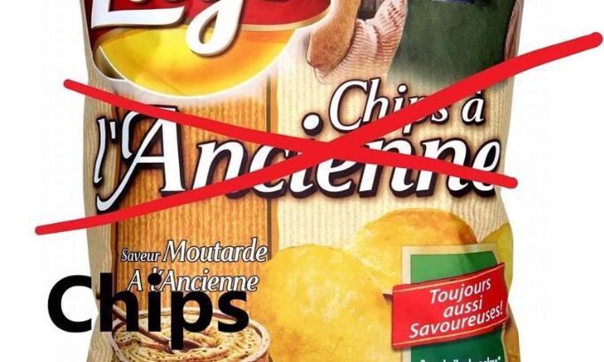 Changer le nom des chips ley's a l'ancienne en chips Tah l'époque