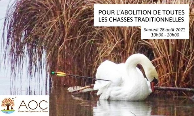 Manifestation virtuelle pour l'abolition de toutes les chasses traditionnelles