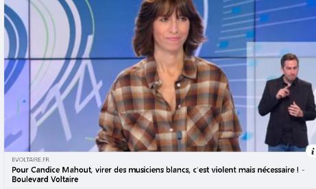 Pour que Candice Mahout, qui applaudit le licenciement de musiciens européens, soit licenciée.