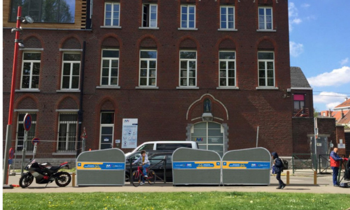 Pour le placement de vélos boxes sécurisés devant les écoles IMI et IMO sans contraintes urbanistiques impayables