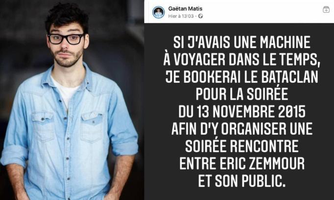Annulation des spectacles de Gaëtan Matis pour apologie au meurtre et attentats au point-virgule