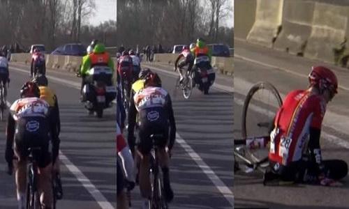 Le retrait de toute moto inutile sur les courses cyclistes !