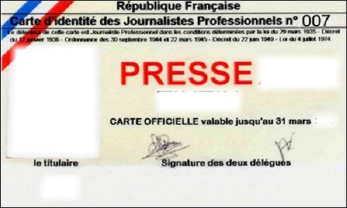 Suppression de la carte de presse d'Alexandre Hervaud