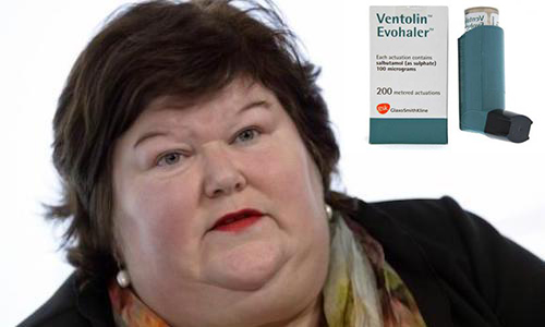 Contre la limitation de prescription du VENTOLIN 100 µg/dose Suspension pour inhalation...