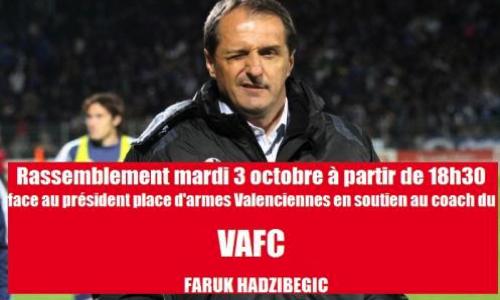 Pétition : Réintégration de notre coach au VAFC Faruk Hadžibegić