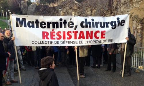 Non à la fermeture de la maternité et de la chirurgie à Die !