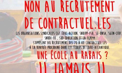 c286a5e9aee Pétition   Non au recrutement de 70 à 80 contractuel.les à la renrée  prochaine en Loire Atlantique