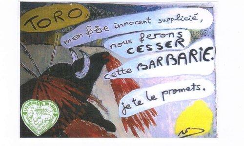 URGENCE ! FAIRE INTERDIRE LES NOVILLADAS ILLEGALES du dimanche 8 juillet 2018 à TARASCON (Bouches du Rhône) : L'association LES GAMELLES DU COEUR dans l'arène judiciaire des corridas.