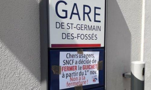 Pétition : Maintien du guichet SNCF en gare de Saint-Germain-des-Fossés