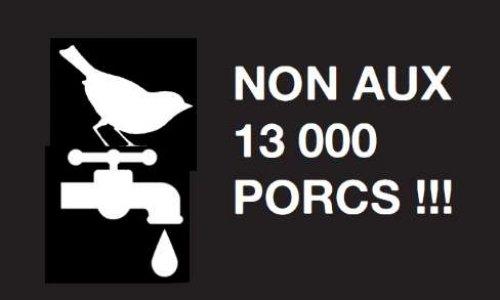 Non a l'extension de la porcherie Saint Yves, pour une eau potable pour tous