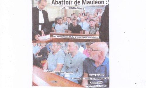 ABATTOIR de MAULEON et autres - NOUS SOMMES TOUS COUPABLES   !!!