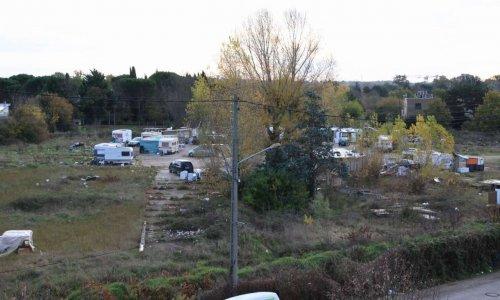 Evacuation du camps de Roumains chemin de malepère Toulouse