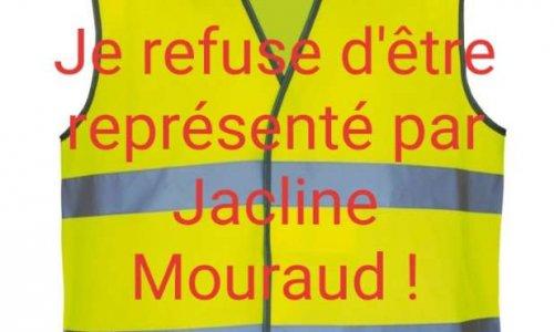 Refus d'être représentés par Jacline Mouraud