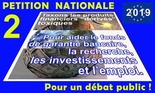 Fonds d'investissement national et local abondé par une taxation de la spéculation sur les produits financiers «dérivés».