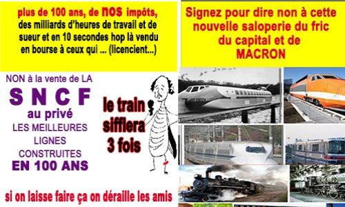 SNCF (help) NON NON et puis NON a la vente de la SNCF au privé