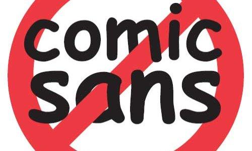 STOP AU COMIC SANS MS