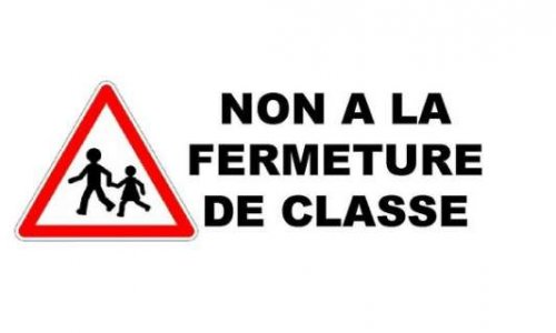 Pétition : NON À LA FERMETURE DE CLASSE