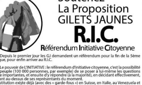 Le RIC appartient au peuple et non à un partit politique !