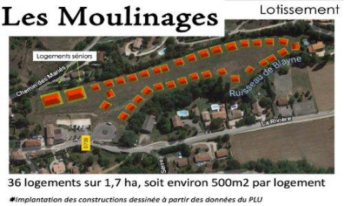 Oui à un nouveau projet d'aménagement aux Moulinages !
