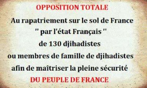 Pétition : Opposition au retour sur le sol Français de 130 djihadistes de Syrie