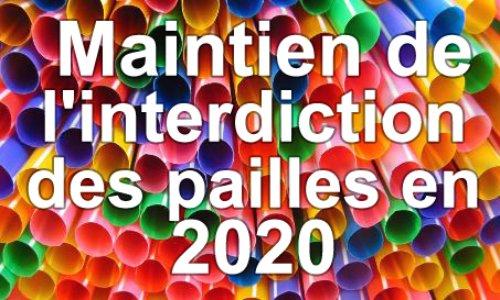 Pétition : Pour le maintien de l'interdiction des pailles en 2020