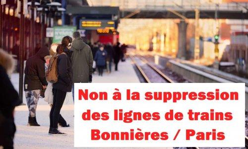NON à la suppression de trains à Bonnières-sur-Seine