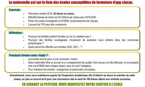 Pétition : Mobilisation pour l'école maternelle de Souillac