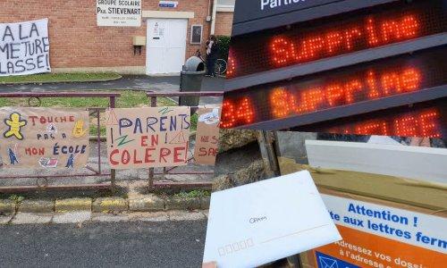 Aulnoye-Aymeries : Non aux fermetures de classes, aux trains remplacés par des bus et la suppression de la boîte aux lettres CPAM