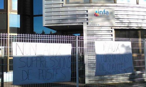 Non aux suppressions de postes à l'INFA Hte-Loire