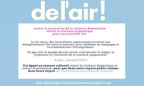 Appel au sursaut contre la violence domestique et sa promotion