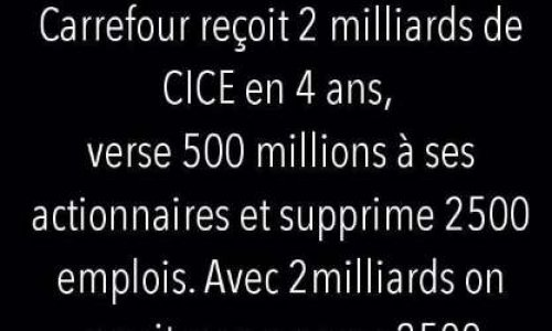 CARREFOUR REMBOURSE LE CICE