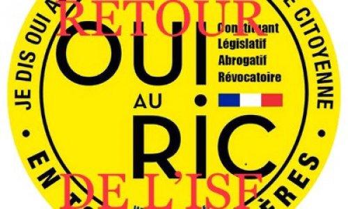 Demande de la mise en place du RIC et retour ISF  !