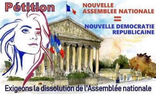 Pétition : Nouvelle Assemblée nationale après dissolution. URGENCE démocratique.