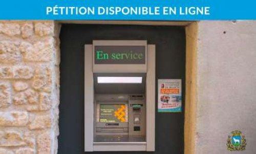 Pour la conservation du distributeur de billets à Loupian (34140)