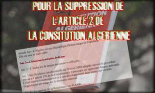 Pour la suppression de l'article 2 de la constitution algérienne